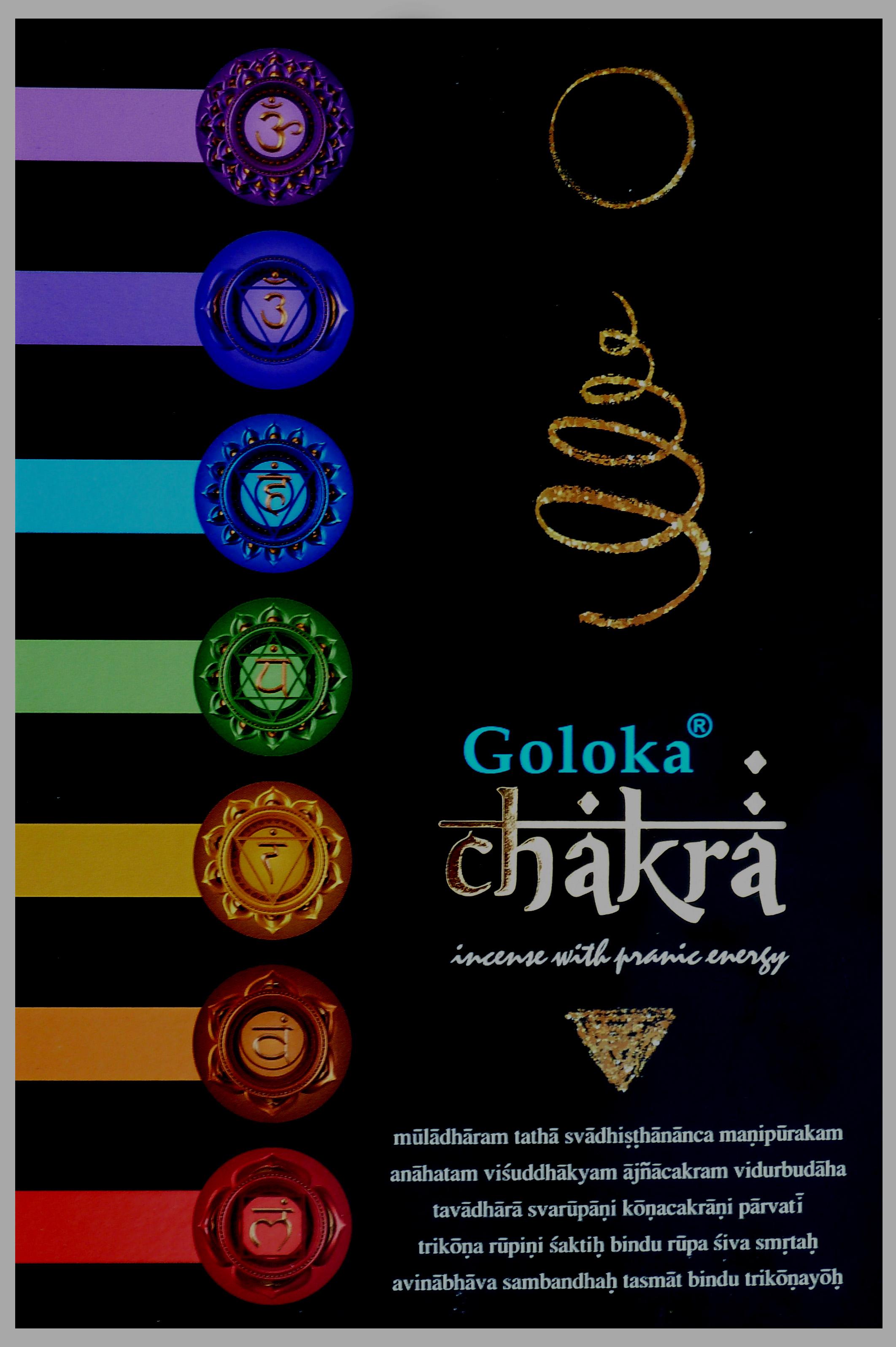 Encens Goloka black series Chakra 15g