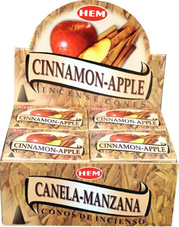 Encens hem cannelle pomme cones