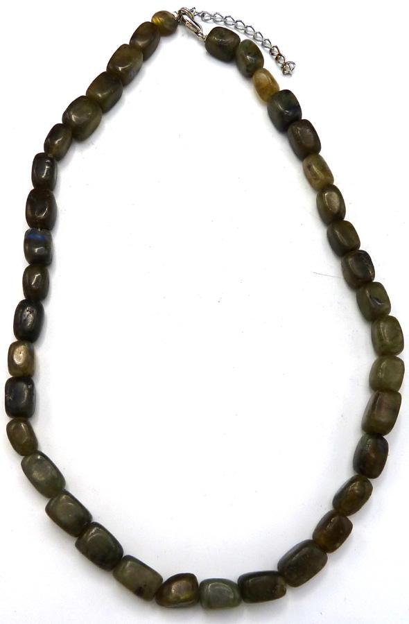 Collier pierres roulées Labradorite 'AA' 42cm