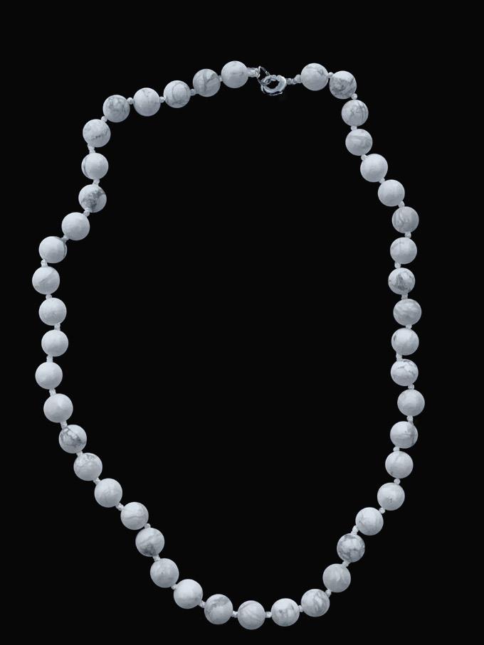 Collier howlite perles 8mm