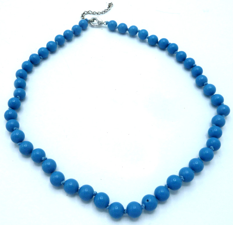Collier turquoise perles 8mm