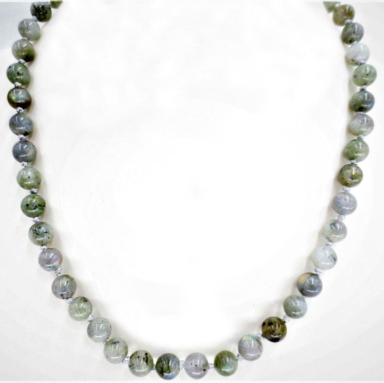 Collier labradorite perles 8mm