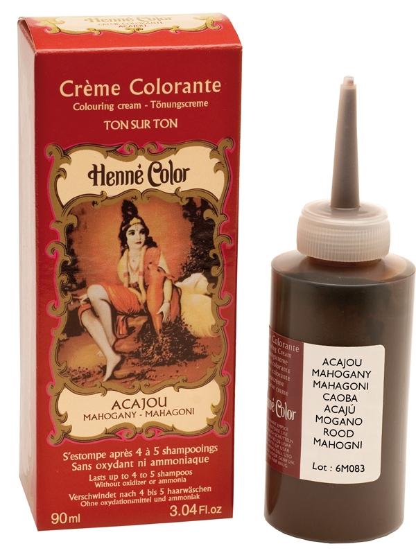 Crème henné colorante acajou 90ml