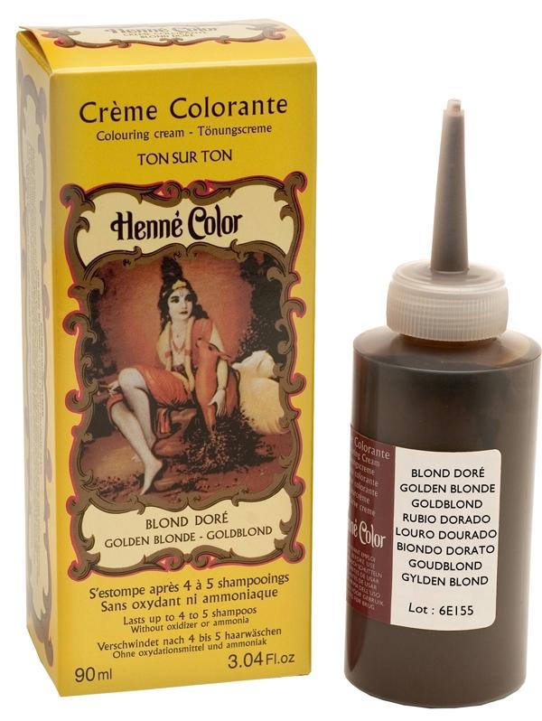 Crème henné colorante blond doré 90ml