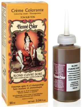 Crème henné colorante blond cuivré doré 90ml