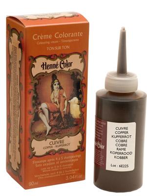 Crème henné color colorante au henné cuivre 90ml