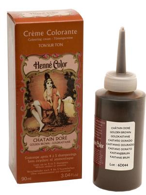 Crème henné colorante châtain doré 90ml