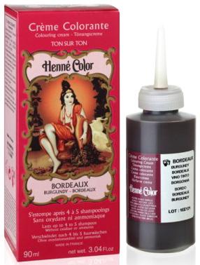 Crème henné color colorante au henné bordeaux 90ml