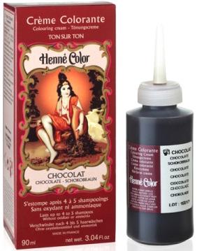Crème henné color colorante au henné chocolat 90ml