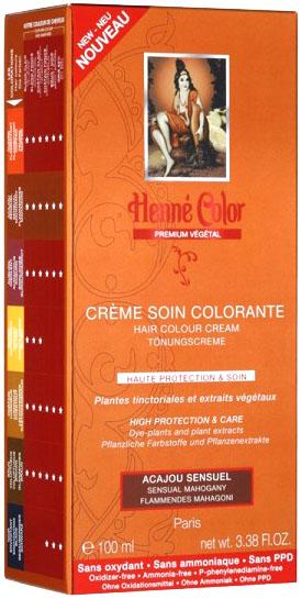 Crème soin colorante premium actifs végétaux acajou sensuel 100ml