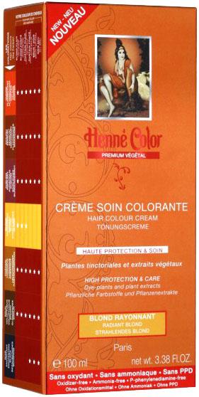 Crème soin colorante premium actifs végétaux blond rayonnant 100ml