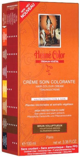 Crème soin colorante premium actifs végétaux brun voluptueux 100ml