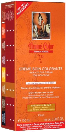 Crème soin colorante premium actifs végétaux châtain lumineux 100ml