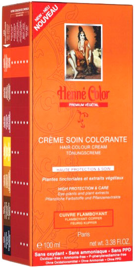 Crème soin colorante premium actifs végétaux cuivre flamboyant 100ml