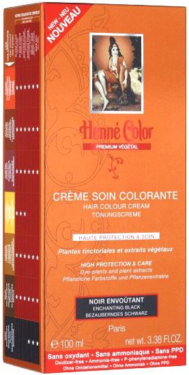 Crème soin colorante premium actifs végétaux noir envoutant 100ml