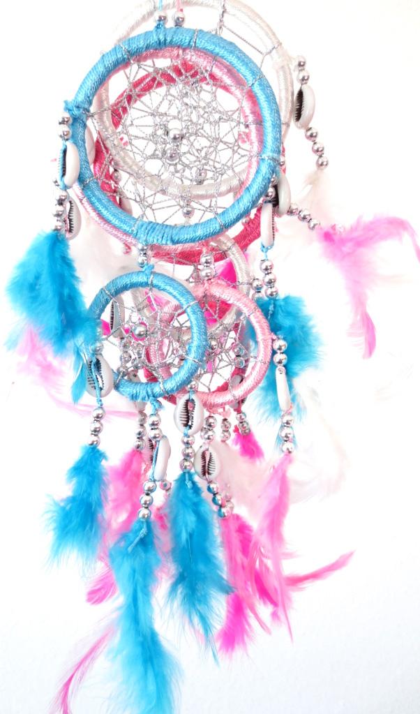 Dreamcatcher perle en métal & coquillages 8cm x12