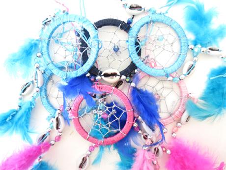 Dreamcatcher perle en métal & coquillages 5cm x12