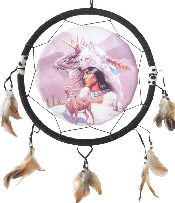 Dreamcatcher indien & cerf 40cm