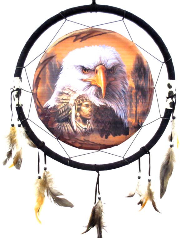 Dream catcher aigle & indien 40cm