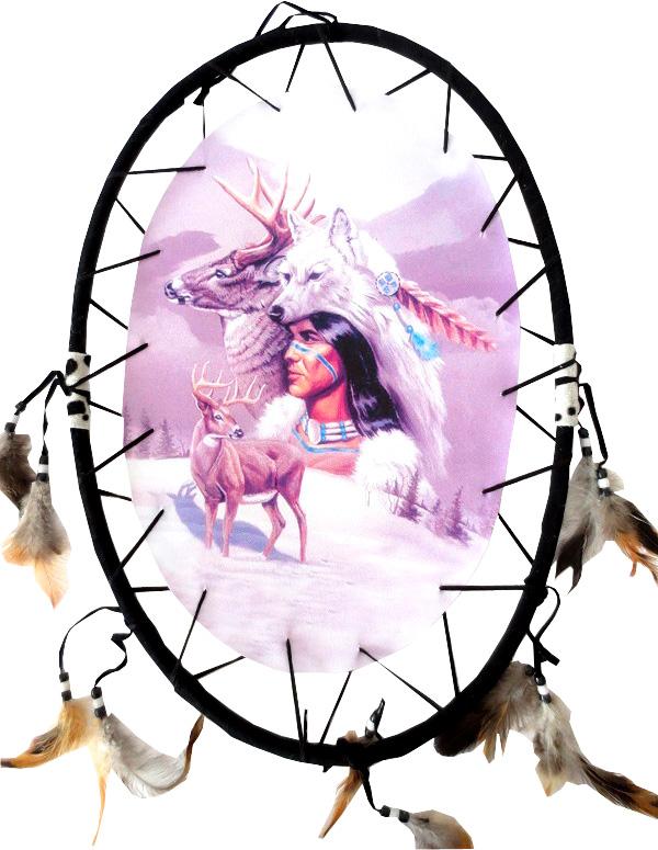 Dreamcatcher ovale indien & cerf 55cm