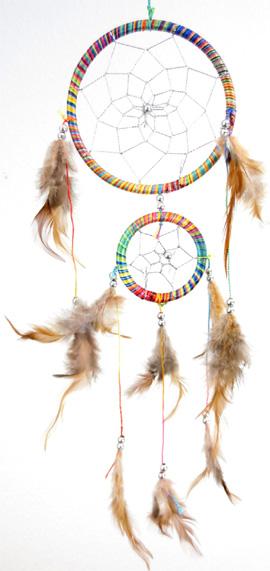 Dreamcatcher coloré perles 11cm x6