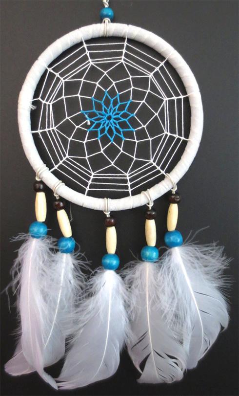 Dreamcatcher en plume d\'oie 14cm x3
