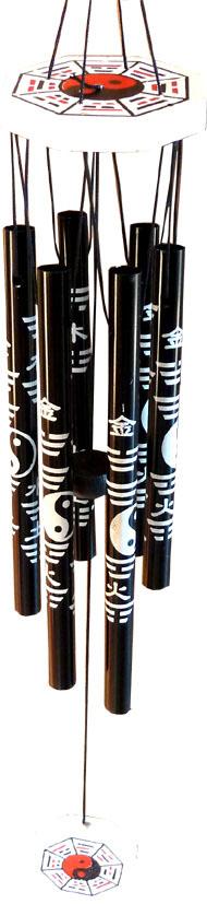 Carillon métal ying yang 85cm