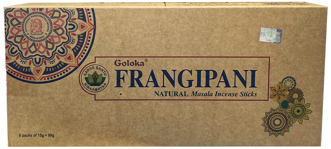 Encens goloka Frangipani oraganica massala 6x15g