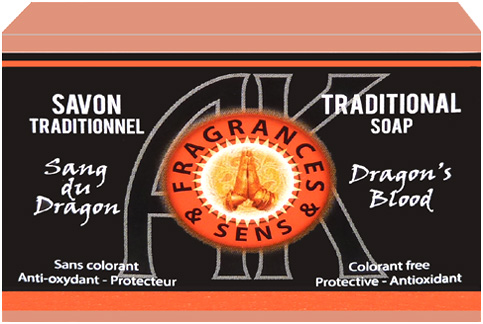 Savon fragrances & sens sang de dragon 100g