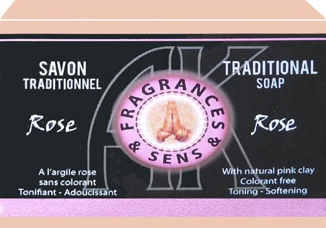 Savon fragrances & sens rose sauvage 100g