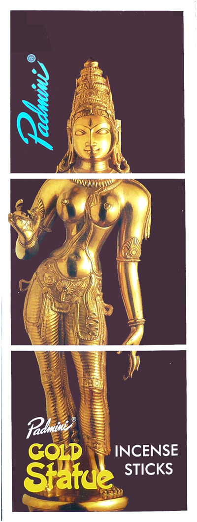 Encens Padmini Gold Statue 8 Bts