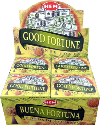 Encens hem good fortune cones