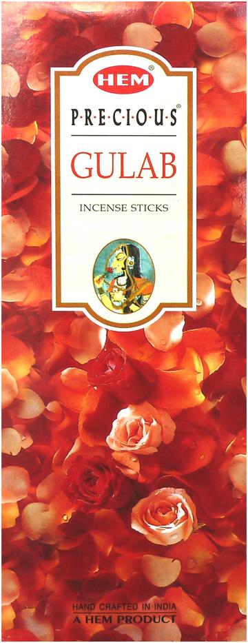 Encens hem precious gulab rose indienne hexa 20g