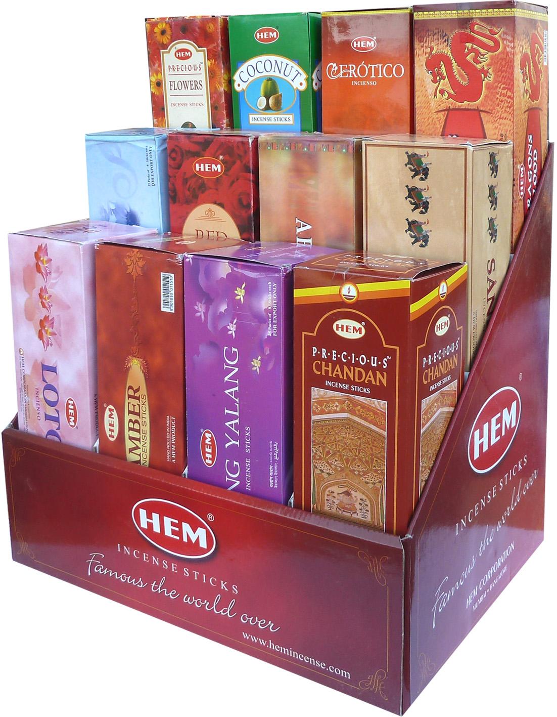 Presentoir encens hem 12 parfums 8 Bts