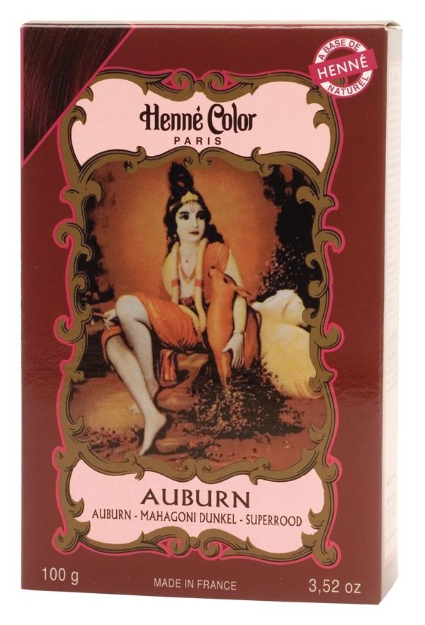 Coloration henné poudre henné color auburn 100g