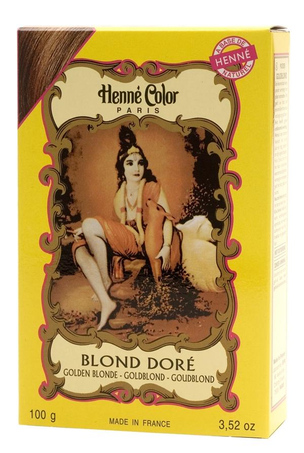 Coloration henné poudre henné color blond doré 100g
