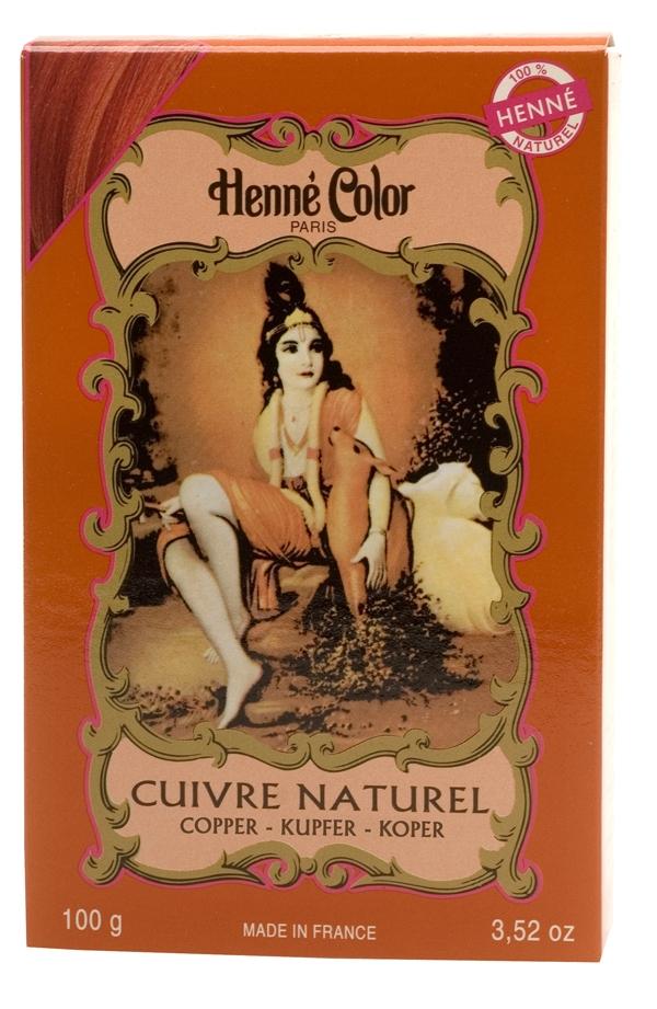 Coloration henné poudre henné color cuivre naturel 100g