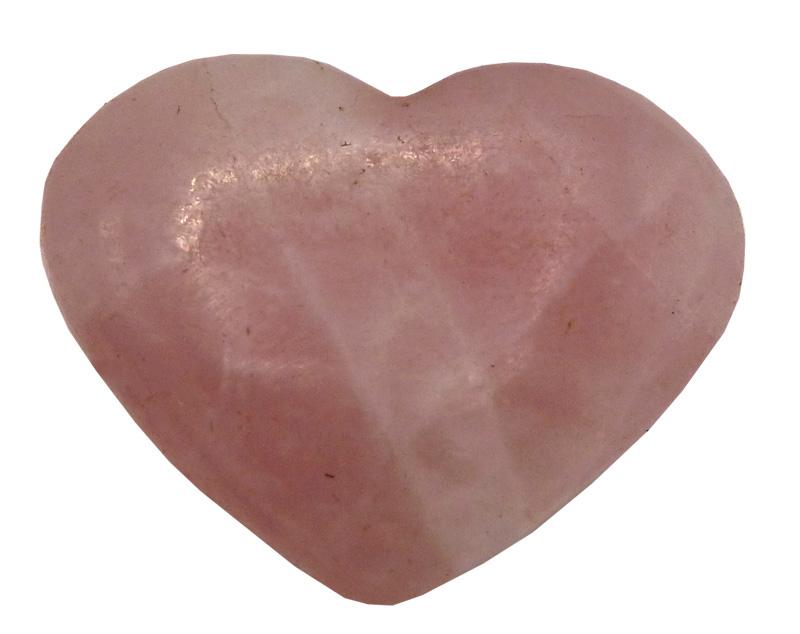 Coeur en quartz rose \'B\' 4cm