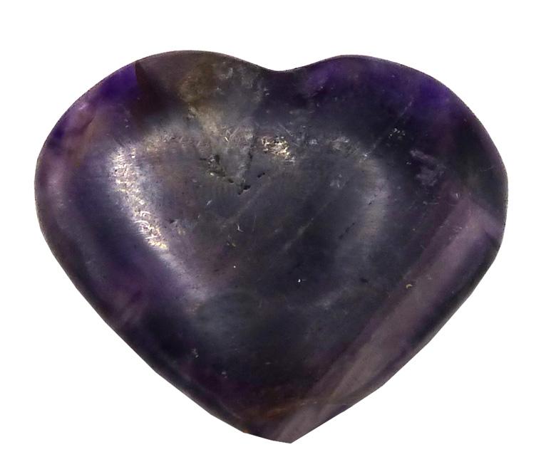Coeur en Amethyste \'B\' 4cm