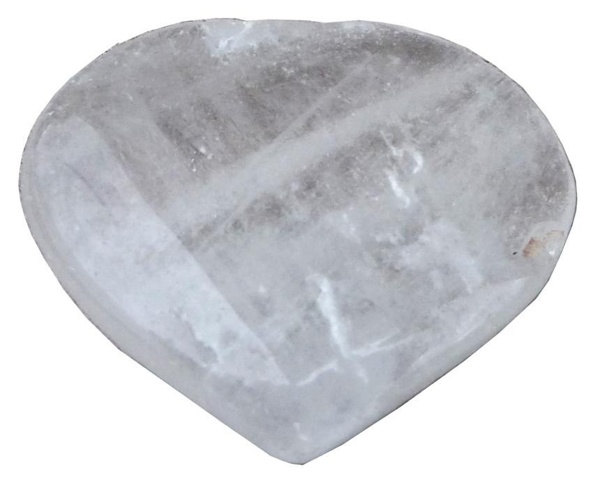 Coeur en cristal de roche \'B\' 4cm