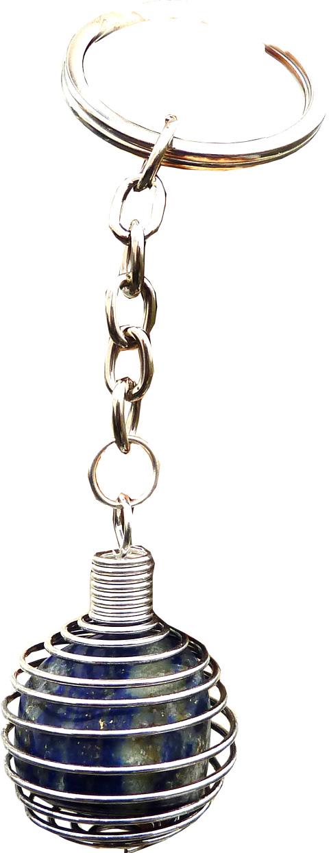 Porte clés spirale Lapis Lazuli 9cm
