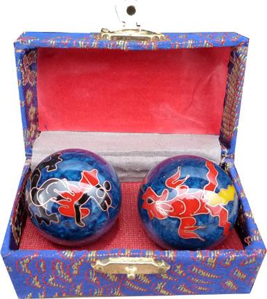 Boules de massage bleues dragon 3.5cm