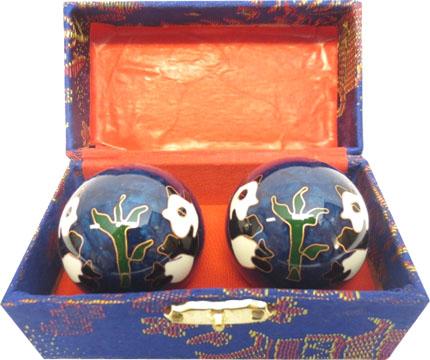 Boules de massage bleues panda 4.5cm