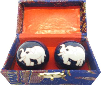 Boules de massage bleues elephant 4.5cm
