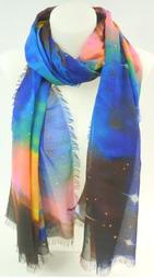 Echarpe étoile bleue