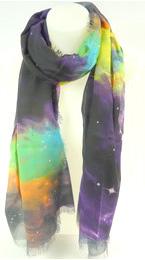 Echarpe étoile violet