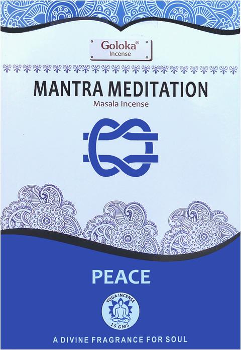 Encens goloka yoga series Mantra Meditation 15g