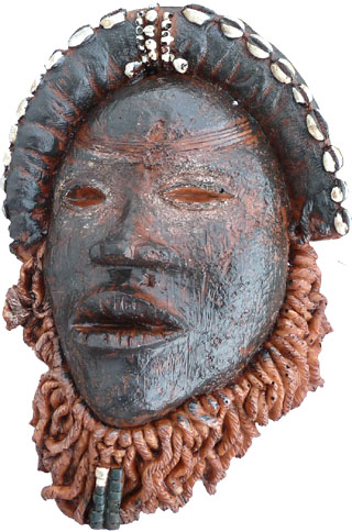 African burkina resin mask 21cm
