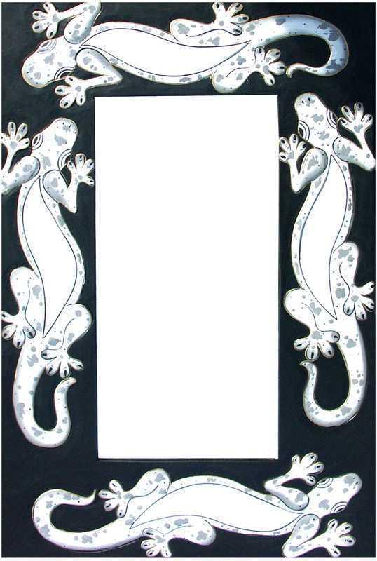 Miroir Gecko Noir & Blanc