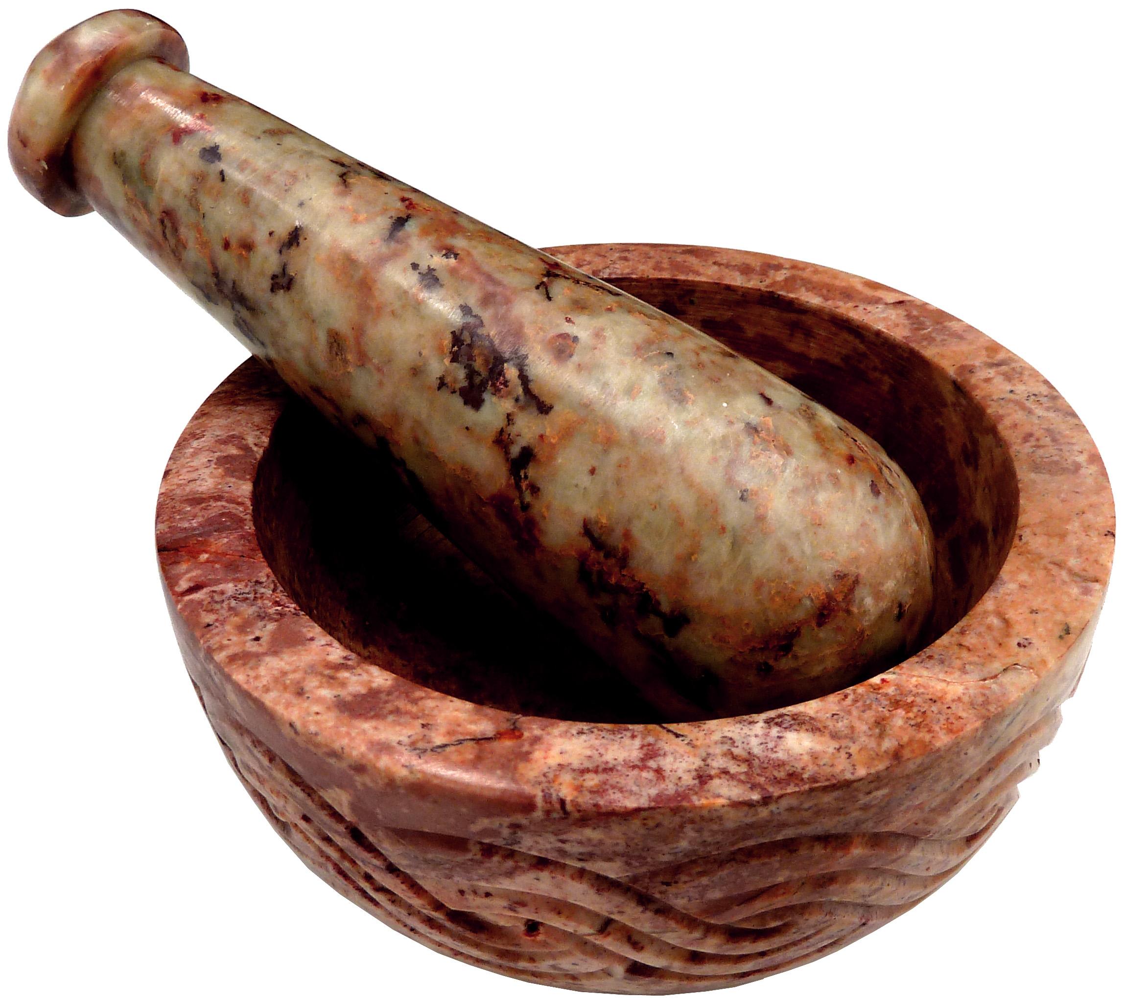 Mortier en pierre saponite 10cm